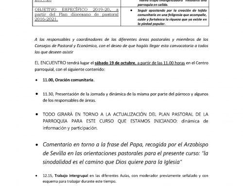 I ENCUENTRO DE CURSO DE LOS GRUPOS DE LA PARROQUIA DE NUESTRA SEÑORA DE LOS REMEDIOS.